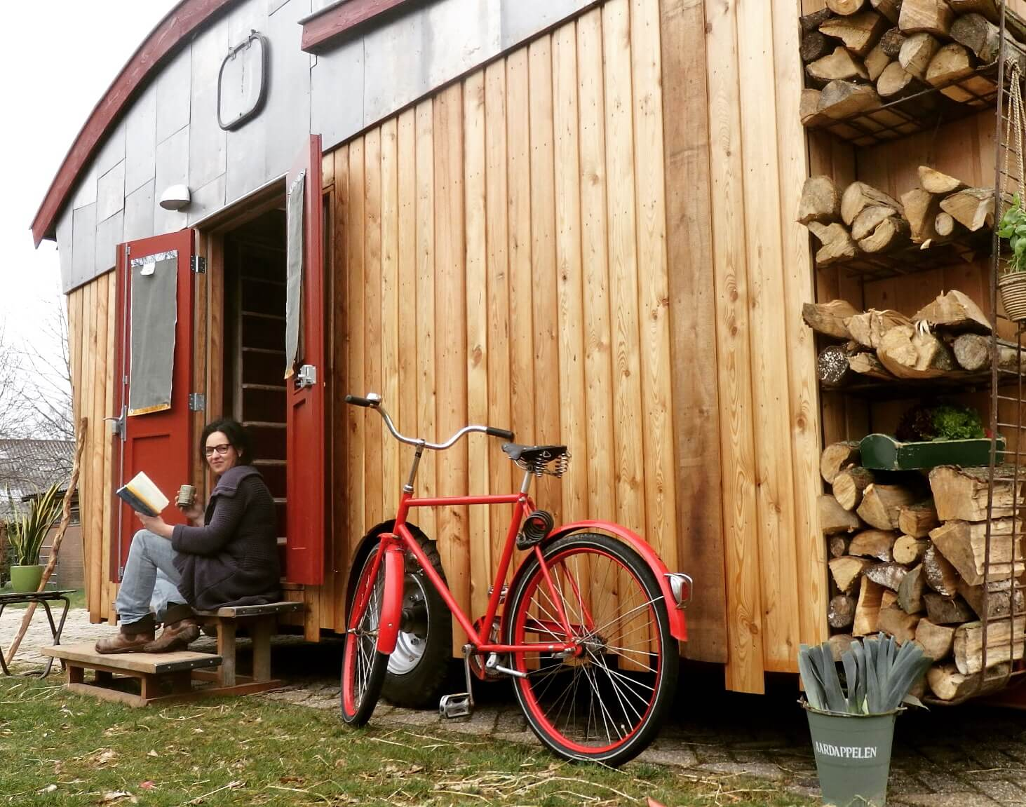 proefslapen in een Tiny House